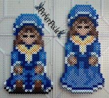 Mad Father - Blue Dolls by PerlerPixie