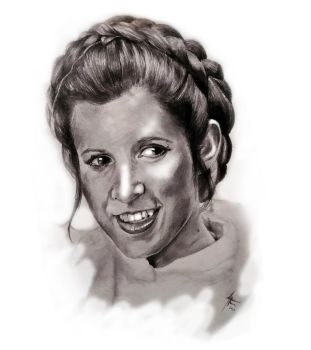 Remember Carrie Fisher (Standalone Print) by Gangres