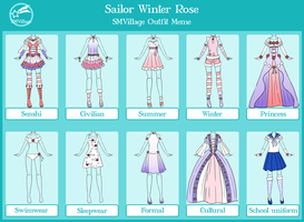 Sailor Winter Rose Outfit Meme wip by senshi-of-legend
