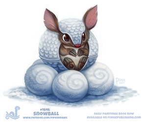 Daily Paint 1846# Snowball by Cryptid-Creations