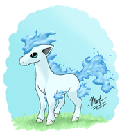 Water Type Ponyta by Wolly-Dream