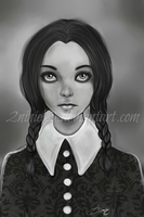 Wednsday Addams by Niniel-Illustrator