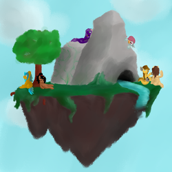 my island WIP by crazydoodleman144