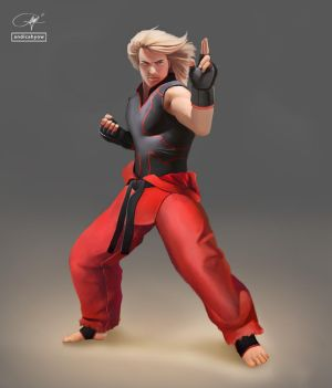 Ken Masters - Street Fighter V by andicahyow