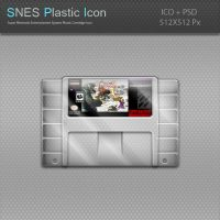SNES Plastic Cartridge Icon by blinkybill