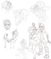 Croods Sketches by Redundantthoughts