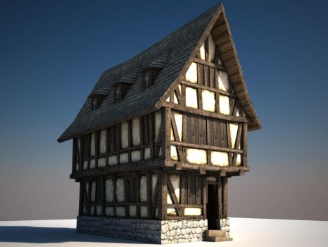 Old Timber Frame House by Qwertzus