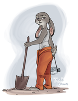 Dig Those Holes by yelnatsdraws