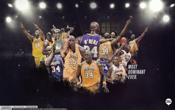 Shaq Lakers Legend Wallpaper by IshaanMishra