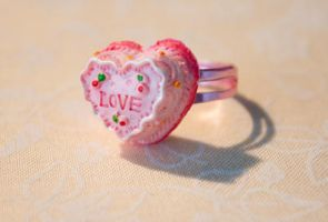 Heart Love Cake Ring by YourSweetTreat