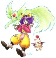 Eiko and Carbuncle by medli