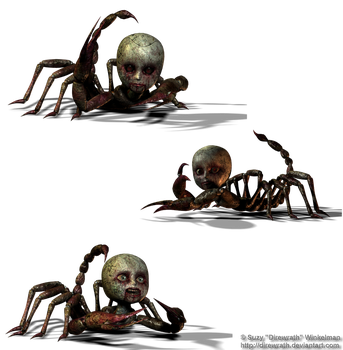 Creepy Doll things png stock by Direwrath