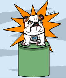 Tank The Bulldog Hero by chelano