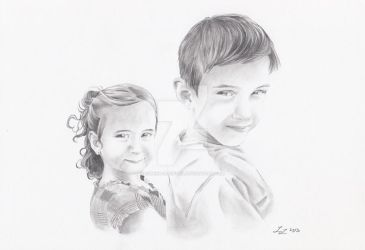 Children Portrait (commissioned work) by Lumina-Lucifuga