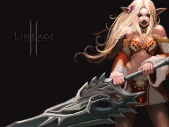 Lineage 2 Light Elf by F-P-G