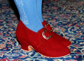 18th c. Ladies Shoes I by Goldenspring