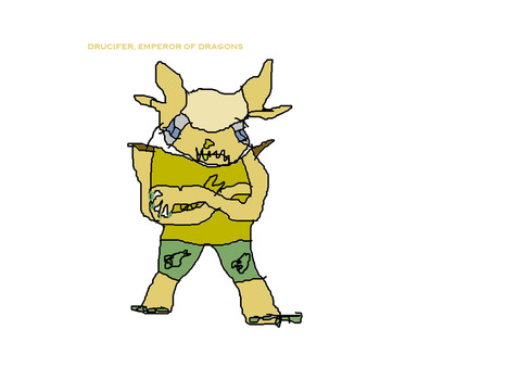 Bad Drawings: My OC, Drucifer, the Dragon Emperor by Scrambler333