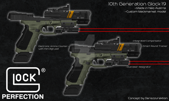 10th Gen Glock Pistol - Blackmarket Model by DeRezzurektion