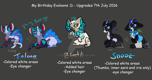 Birthday Evoloons - 7th july 2016 by JB-Pawstep