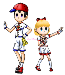 Magical Girl Collab #6: Ness and Tracy by YessieMaltese