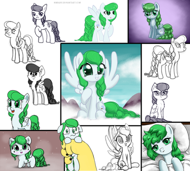 Winter Willow - Art style collage by Nimaru