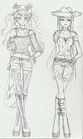 Just for fun fashion doodles - incomplete by missmiakomyori