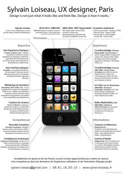 iPhone creative resume by sylvainloiseau