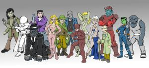Fox Feaures Syndicate Villains lineup by jay042