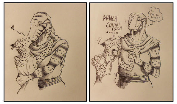 ''Daily'' sketch - Interspecies Issues. by 0laffson