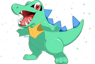Shiny Totodile by Willow-Pendragon