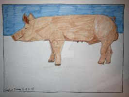 InkTober Drawing #23 American Yorkshire Boar by Justyn16
