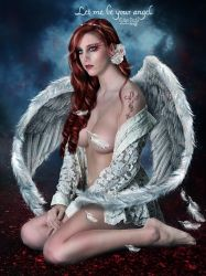 Let me be your angel  by EstherPuche-Art
