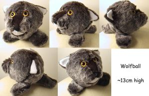 Wolfball soft toy by Rahball