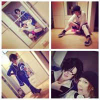 [k] anime project - Fushimi and Yata Cosplay WIP by kayleighloire