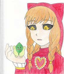 Nyarlathopt and leaf healer colorpencil by blackdeath2000