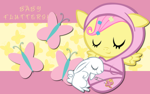 New Born Fluttershy WP by AliceHumanSacrifice0