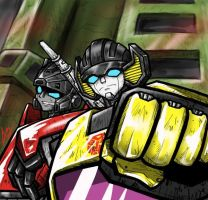 Sunstreaker and Sideswipe by Colza666