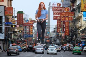 Sophie Turner - In Chinatown by Natkatsz