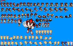 Sonic 1 Megamix v4.0 - Shadow the Hedgehog by mike1967-now