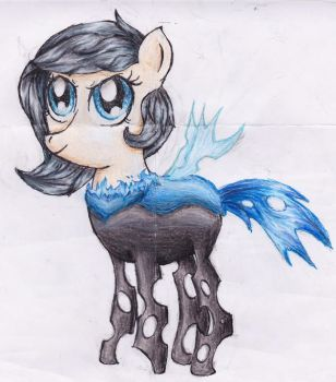 Changeling OC Transforming by katl0ver