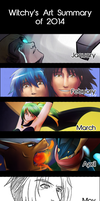 Witchy's Art Summary of 2014 by witch-girl-pilar