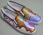 Night Owl: Hand Painted Shoes by ABCassell