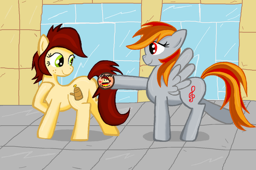 Canni and Tridashie in ms-paint speedart by sallycars