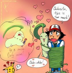 Chikorita, this is too much! by Flive-aka-Nailan
