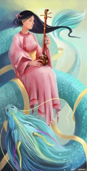 Dragon's Lute by JowieLimArt