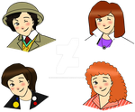 Seventh Doctor Chibi Set by cookiepianosart
