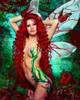 Bodypainted Fairy by JassysART