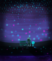 Undertale- Waterfall by Gameaddict1234