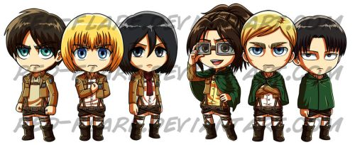 Attack on Titan Chibis by Red-Flare