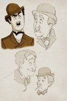 chaplin face expressions by superxtoon